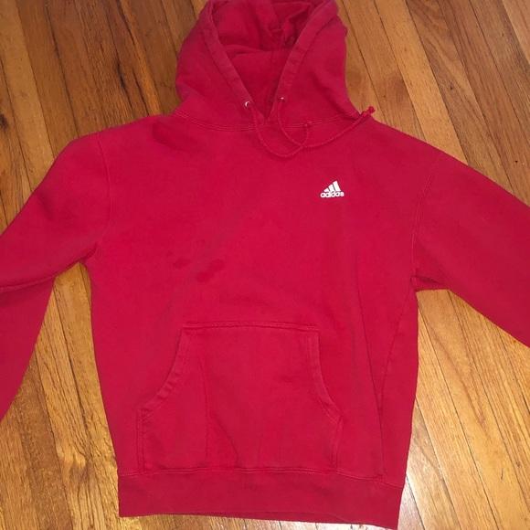 red adidas hoodie mens